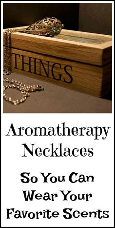Aromatherapy necklaces so you can wear your favorite essential oils wherever you go.