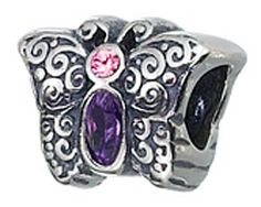 Beautiful Sterling silver 925 sterling Sterling Silver Reflections Enameled Cupcake Bead
