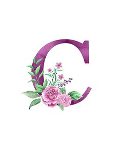 Monogram C accompanied by a lovely pink rose bouquet. perfect monogram design on shirts, apparel, st Monogram Wallpaper, Alphabet Wallpaper, Monogram Design, Monogram Letters, Pink Rose Bouquet, Flower Letters, Letter Art, Iphone Wallpaper, Tattoos