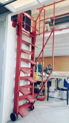 Cheap Pergola For Sale Steel Stairs, Attic Stairs, House Stairs, Stair Shelves, Stair Ladder, Roof Ladder, Tool Room, Casa Patio, Garage Interior