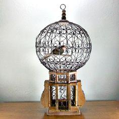 Ornate Victorian Dome Bird Cage 1800's