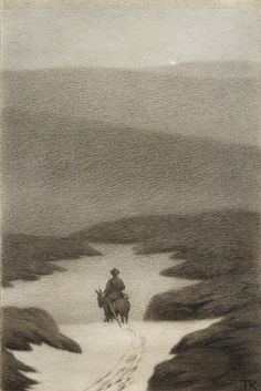 Theodor Kittelsen This is so nice and smooth Gravure Illustration, Illustration Art, Theodore Kittelsen, Most Popular Artists, Nordic Art, Art Database, Design Graphique, Nature Paintings, Graphic