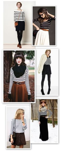 Brown and Stripes, How to wear stripes for fall