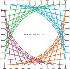 stitched card patterns | Click on the string art picture above for a template. Use your back ...