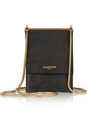 Snake-effect leather mini shoulder bag LANVIN