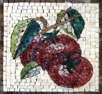 Tomatoes, vegetables mosaic accent