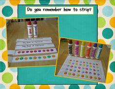 Kindergarten Crayons: pattern strip book-Good independent work at the beg. of year Kindergarten Crayons, Patterning Kindergarten, Preschool Learning, Kindergarten Activities, Teaching Math, Teaching Ideas, Classroom Activities, Children Activities, Creative Teaching