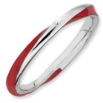 Awesome Twisted Red Enamel Stackable Ring. Sizes 5-10 Available Jewelry Pot. $20.99. Your item will be shipped the same or next weekday!. All Genuine Diamonds, Gemstones, Materials, and Precious Metals. Fabulous Promotions and Discounts!. 100% Satisfaction Guarantee. Questions? Call 866-923-4446. 30 Day Money Back Guarantee. Save 67% Off!