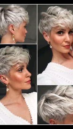 Short Hair With Layers, Short Hair Cuts, Short Hair Styles, Edgy Short Haircuts, Short Bob Hairstyles, Chic Short Hair, Blonde Pixie Cuts, Moda Formal, Crop Hair