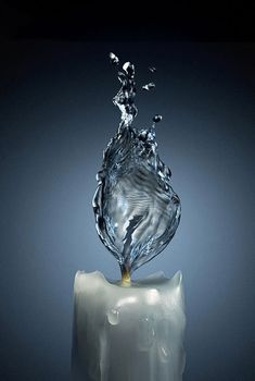 Water flame, fire and water are unable to naturally coexist.... other than in the human body and spirit