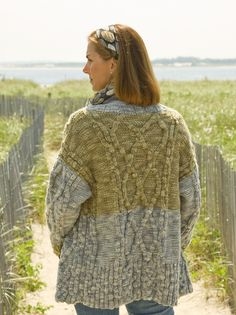 Nashua Handknits - NS3-7 - Oversized Cabled Cardigan-pattern  6.00 Knit  Cardigan Pattern b8a358b9e