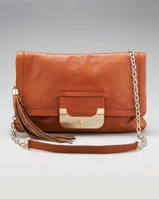 Diane von Furstenberg Harper leather envelope clucth
