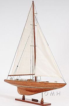 Columbia Yacht Model America's Cup Wooden Sailboat