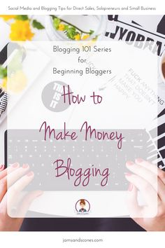 How to make money blogging for beginning bloggers. Blogging 101 My husband is always asking me how I'm going to take this time consuming blogging gig and make money.