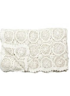 Like idea of crochet blanket in one colour   Hand knit throw off white from Nordic Bliss