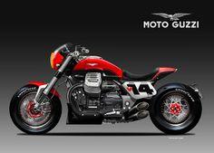 Motosketches: MOTO GUZZI V14 BOLIDE ROSSO