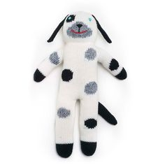 Mini London The Dog Knit Doll - Irresistibly soft and cuddly, this vintage-inspired knit dog doll will be beloved and cherished. #PNshop