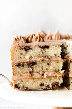 This snickerdoodle layer cake combines my favorite vanilla cake with buttery brown sugar cinnamon swirl and brown sugar cinnamon buttercream If you love snickerdoodle cookies you will adore this homemade cake Recipe on Strudel, Cake Recipes, Dessert Recipes, Desserts, Frosting Recipes, Sallys Baking Addiction, Frozen Cake, Cake Flour, Candy