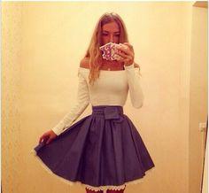 New fashion 2014 women sexy dresses long sleeve slash neck denim color lace hem ball gown pleated casual dress