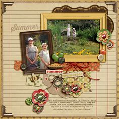 page by Julie Long using Shabby Miss Jenn Designs Grandparents House kit and Fiddle Dee Dee template freebee 100