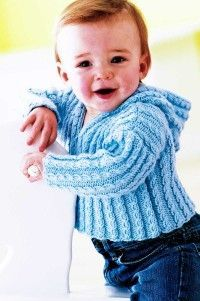 """TLC """"Free Cabled Cardigan Knitting Pattern""""  http://tlc.howstuffworks.com/home/free-baby-sweaters-knitting-patterns1.htm"""