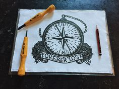 Skateboards, Lino prints, wood cuts and cross stitch by TheLongVacationArt Lino Cuts, Lino Prints, Compass Tattoo, Traditional Tattoo, Handmade Art, Cross Stitch, Etsy Seller, Vacation, Creative