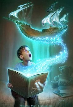 art by Shannon Maer - different kind of a BookWyrm - Fantasy vs Reality's photo.