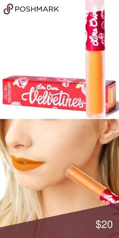 Lime Crime Squash Velvetine Liquid Lipstick 100% authentic. Price firm. Lime Crime Squash Velvetine Liquid Lipstick. This easy application lipstain runs over your lips super smooth, and dries completely matte. Its rich, glowstick orange tint is completely touch-proof when dry. Cruelty free. Lime Crime Makeup Lipstick