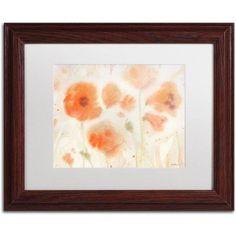 Trademark Fine Art Orange Tones Canvas Art by Sheila Golden, White Matte, Wood Frame, Size: 16 x 20, Brown