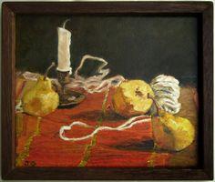 Moroccan Pears original art by Jacqueline Gomez