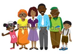 African Family Cartoon - Think Vector Available for download on thinkvector.com for just $9.00. Search & download high quality clipart & stock vector in pocket friendly prices
