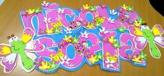 Como hacer nombres en foami para bebés - Imagui Foam Crafts, Diy And Crafts, Name Plaques, Name Art, Garden Theme, Ideas Para, Birthday Candles, Princess Peach, Baby Shower
