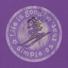 Women's Simple As That Ski Long Sleeve Tee|Life is good