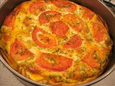 Crustless Zucchini and Tomato Quiche. Photo by eatrealfood