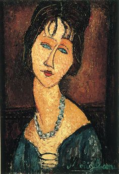Have been looking at Modigliani since childhood.  Our parents would leave art books all over the house.  Still love the color and emotion.