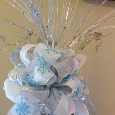 Silver tree topper  Christmas decorations  by JulieButlerCreations