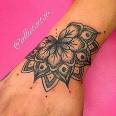 Image result for lotus mandala hand tattoo female