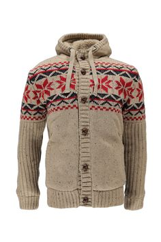 Fairisle Borg Lined Cardigan at boohoo.com
