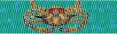 Peyote Cuff Pattern Crab Bead Bracelet by tropicalkaren on Etsy