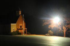 Light on the church