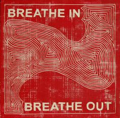 Breathe in and breathe out. (Image by YK Hong, Breathe In, Breathe Out, 2011 wowWords of Women – Webmaster Room Posters, Poster Wall, Poster Prints, Lizzie Hearts, Kunst Tattoos, Plakat Design, Breath In Breath Out, Red Aesthetic, Pretty Words
