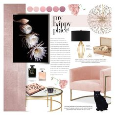 """""""Night Blooming Cereus"""" by lilith1521 ❤ liked on Polyvore featuring interior, interiors, interior design, home, home decor, interior decorating, Garance Doré, Aspinal of London, Hudson Valley Lighting and Currey & Company"""