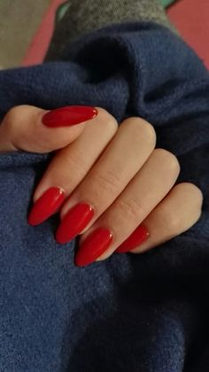 pinterest: dk doan   board: nails Red Manicure, Manicures, Manucure Pedicure, Red Nails, Fancy Nails, Cute Nails, Pretty Nails, Hair And Nails, Red Acrylic Nails