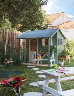 Children& cabin: models for the garden - A children& cabin like a small house - Garden Huts, Garden Cottage, Home And Garden, Kids Wooden Playhouse, Build A Playhouse, Patio Design, Exterior Design, Garden Design, Great Buildings And Structures