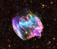 Black Hall being generated. X-ray: NASA/CXC/MIT/L.Lopez et al; Infrared: Palomar; Radio: NSF/NRAO/VLA