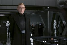 """Domhnall Gleeson dishes on General Hux, the drama, and the Dark Side's """"bitchy in-fighting"""" during #TheLastJediEvent. #StarWars #TheLastJedi"""
