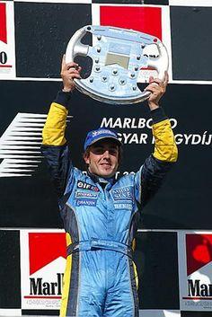 1st place Fernando Alonso (ESP) Renault R23 Formula One World Championship, Rd13, Hungarian Grand Prix, Race Day, Hungaroring, Hungary, 24 August 2003