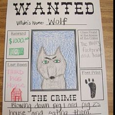 Instead of a template, students create their own wanted poster...can create characters in wire then take picture and attach.