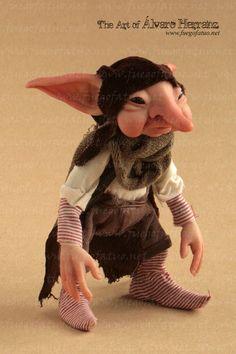 House brownie - OOAK art doll.