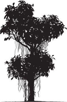 Vectores libres de derechos: Tropical Tree Silhouette